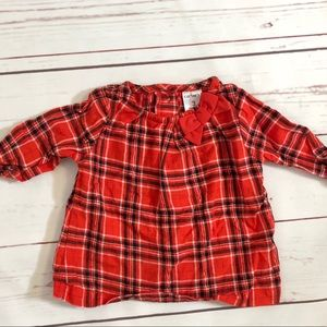 *5 for $25* Carter's Red Plaid Loose Top